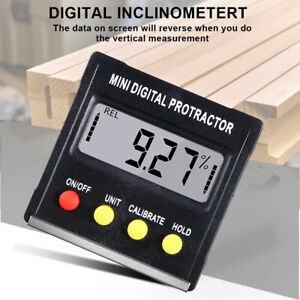Digital Lcd Protractor Gauge Level Box Angle Finder Inclinometer Magnet Meter Us