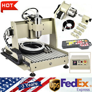 4 Axis 3040t Cnc Router Engraver 800w Drilling Machine 3d Woodworking handwheel