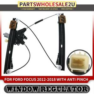 Front Left Window Regulator For Ford Focus 2012 2016 2017 2018 With Motor 6pin