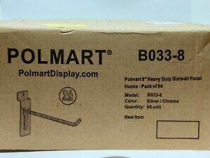 Polmart 8 Heavy Duty Slatwall Panel Hooks Pack Of 96 8 inch Industrial
