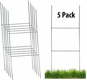 Sturdy Metal H Frame Wire Step Stakes For Yard Signs 10 X 24 Inch stakes Only