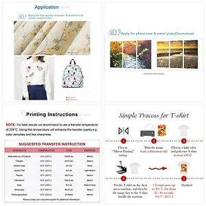 A sub Sublimation Paper 8 5x11 Inch 110 Sheets For Any Inkjet Printer With Subli