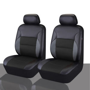 Carpass Sandwich Leather 6pcs Universal Car Seat Covers For 2 Front Seat Covers