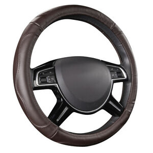 Carpass New Arrival Brown Color Pu Leather 38cm Special Car Steering Wheel Cover