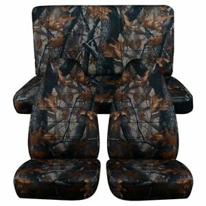 Universal Pro Car Seat Covers Set Cushion Protector 5 Seats Front Rear Interior