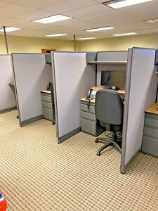 Telemarketers Cubicle partition By Haworth Office Furniture