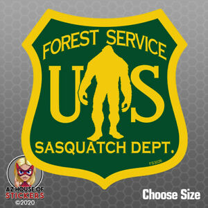 Bigfoot Us Forest Service Sticker Sasquatch Yeti Car Truck Window Decal Fs3026
