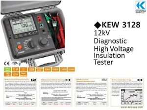 Kyoritsu Kew 31282 12kv Digital High Voltage Insulation Tester