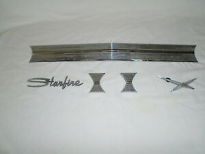 1962 Oldsmobile Starfire Tail Panel Trim And Trunk Emblems