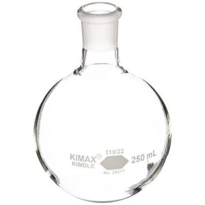 Kimble 25277 250 250ml Boiling Flask W Short Neck 19 22 St Joint qty 2