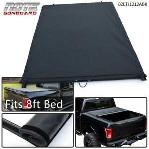 For 2015 2016 2017 18 Ford F150 8ft Long Bed Soft Lock Top Roll up Tonneau Cover