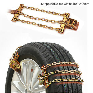 1pc Snow Chains Car Anti Slip Tire Chains For 165 215mm Wheel Ice Snow Mud Road