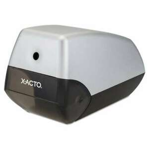 X acto Helix Office Electric Pencil Sharpener Silver black 079946104233