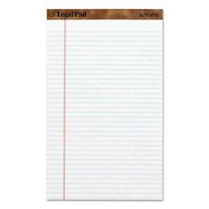 Tops the Legal Pad Ruled Perforated Pads 8 1 2 X 14 White 5 025932757310