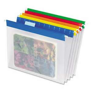 Pendaflex Poly Hanging File Folders 1 5 Tab Letter Assorted C 078787557086