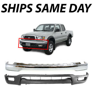 New Chrome Front Bumper Face Bar Lower Valance Kit For 2001 2004 Toyota Tacoma