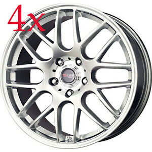 Drag Wheels Dr 37 19x8 5 5x114 3 Et40 Hyper Silver Rims For Accord Tl Cl Camry