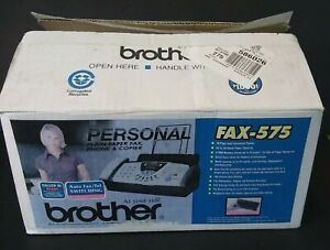 Brother Fax 575 Personal Plain Paper Fax Phone And Copier Machine Open Box A5