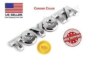 1x Toyota Trunk Emblem Badge Decal Logo Chrome Rear Camry Corolla Prius