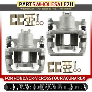 Rear Left Right Brake Calipers W Bracket For Honda Cr v Crv Crosstour Acura