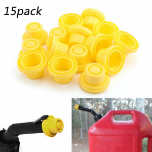 15x Yellow Spout Cap Top For Fuel Gas Can Blitz 900302 900092 900094 At6 At
