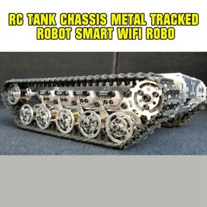 Metal Rc Tank Chassis Tracked Robot Smart Wifi Robot Car Shock Absorption Tzt