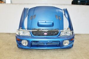 98 00 Jdm Subaru Impreza Wrx Sti Gc8 Oem Front End Nose Clip Version 5 6