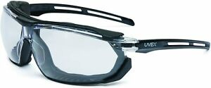 Uvex S4040 Tirade Safety Glasses goggle With Black Frame And Clear Anti fog Lens