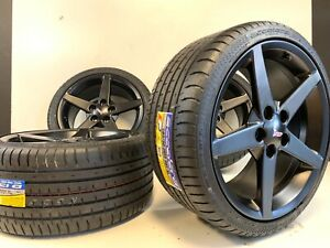 18 19 In Chevrolet Corvette Black Wheels Rims Tires Factory Oem C5 C7 5596 Fac
