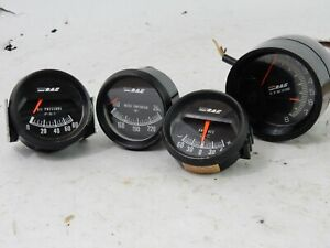 Vintage Rac Gauge Set Oil tachometer amps water Temp Gauges Hot Rod