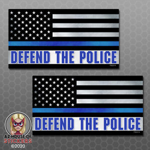Defend The Police Thin Blue Line Stickers Car Truck Vinyl Decal Window Fs2314