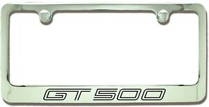 Ford Mustang Gt500 Chrome Plated Metal License Plate Frame Holder