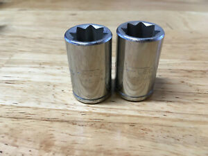 2 New Fleet Tools Usa Double Square 1 2 Sockets 1 2 Drive 8 Point 8 Pt 1616 S