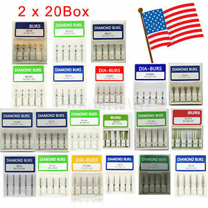 200 Pcs Sale Dental Diamond Burs Flat end Tapered Fg 1 6mm For Handpiece Wxx