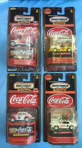 Matchbox Coca Cola Lot Of 4 New In the Card Model T Beetle Firebird GTO