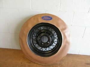 1935 Ford 16 Wire Wheel 5 On 5 1 2 Spare Tire Cover Model A Ford Hot Rat Rod