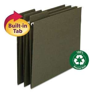 Smead Fastab Recycled Hanging File Folders Legal Green 20 box 086486641371