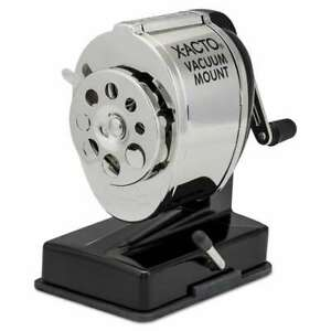 X acto Ks Manual Vacuum Mount Classroom Pencil Sharpener Black 079946010725