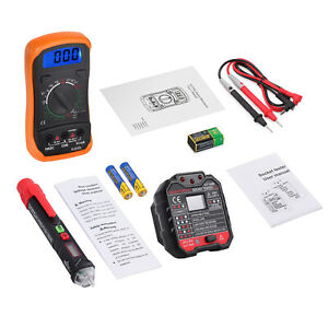 Electrical Test Set With Digital Multimeter Voltage Tester Pen Socket Tester