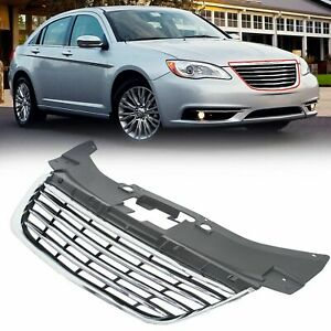 For 2011 Thru 2014 Chrysler 200 Chrome Front Hood Grille Grill New 68082050ae