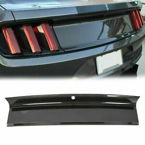 For 2015 2018 Ford Mustang Carbon Fiber Color Trunk Panel Decklid Trim Cover