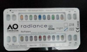 American Rediance Ortho Nickel Free Orthodontic Clear Bracket 4x4 16 Piece