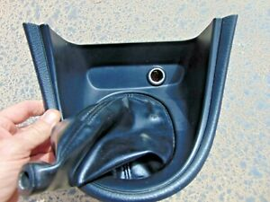 94 98 Ford Mustang Manual 5 Speed Shift Trim Bezel W Black Leather Boot