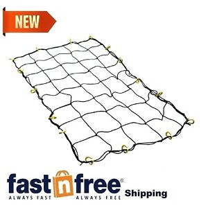 Cargo Net With 16 Durable Nylon Hooks Bungee Cord Large Netting Pickup Truck Bed