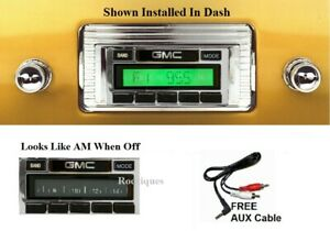 1947 1953 Gmc Truck Stereo Radio Free Aux Cable Included Stereo 230