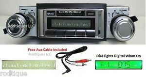 1968 1969 Cutlass Radio W Free Aux Cable 230 Stereo