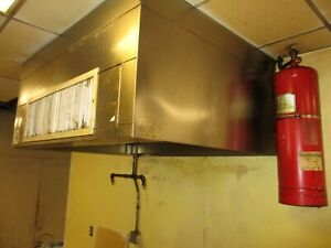 Complete 5ft Kitchen Exhaust Venthood Exhaust Make Fans Fire Suppression 13c