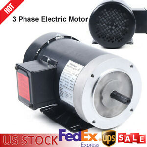 2 Hp 3 Phase Electric Motor 3450 Rpm 56c Frame Tefc 230 460v High Efficiency Usa