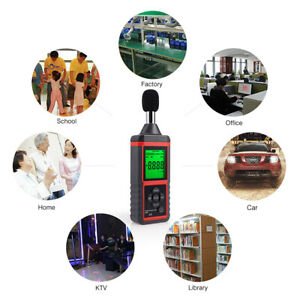 Digital Sound Level Decibel Noise Meter 30 130db Audio Monitor Tester Lcd Read
