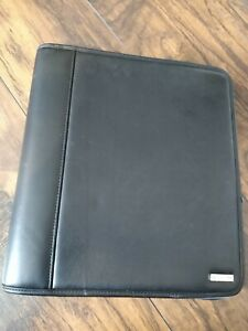 Franklin Covey Black Leather Classic Planner Binder Organizer 7 Ring Full Size